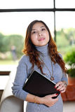 Woman work with pad Royalty Free Stock Photography
