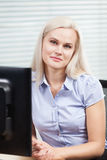 Woman at work. Portrait of a beautiful office worker stock photos