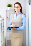Woman at work Stock Images