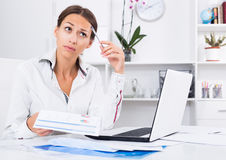 Woman work problems Royalty Free Stock Photos