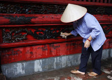 Woman at work in vietnam royalty free stock photo