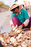 Woman worker in China Royalty Free Stock Photo