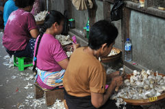 WOman Worker in Indonesia Royalty Free Stock Images