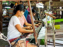 Woman workers in Mandalay, Myanmar 3 Royalty Free Stock Photos