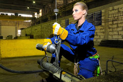Woman working Stock Image