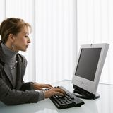 Woman working. Royalty Free Stock Images