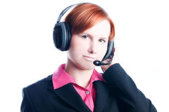 Woman working in a call center Stock Photography