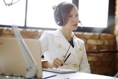 Dispatcher at work royalty free stock image