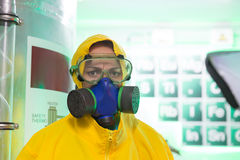 Woman working in chemical laboratory Stock Image