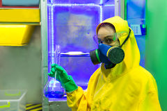 Woman working in chemical laboratory Royalty Free Stock Images