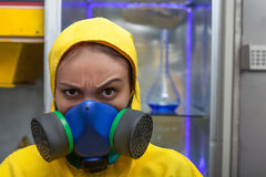 Woman working in chemical laboratory Stock Photography