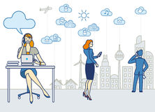 Woman Working in the City. A business woman working in an office Stock Image