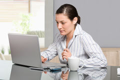 Woman working with computer Stock Photos