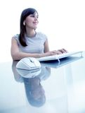 Woman working on the computer Royalty Free Stock Image