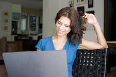 Woman working with computer Royalty Free Stock Images