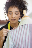Woman working in fashion design studio Royalty Free Stock Photography