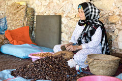 Woman working in a female cooperative of Argan Royalty Free Stock Images