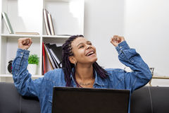Woman working stock photo