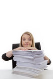 Woman working at her desk Royalty Free Stock Image