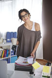 Woman working at home Royalty Free Stock Images