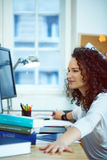 Woman working at home Royalty Free Stock Photo