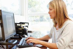 Woman working in home office Royalty Free Stock Images