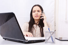 Woman working Royalty Free Stock Images