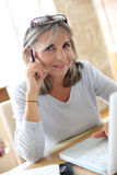Woman working from home Royalty Free Stock Photo