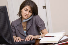 Free Woman Working In Home Office Stock Photography - 23032582