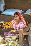 Woman working at Indian Village Royalty Free Stock Photos