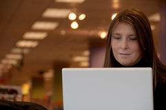 Woman Working With Laptop Stock Photography