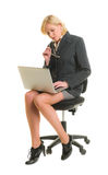 Woman working with laptop Royalty Free Stock Photography