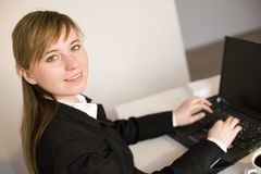 Woman working on the laptop Royalty Free Stock Image