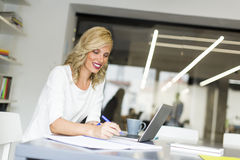Woman working on the laptop Royalty Free Stock Images