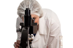Woman working on Medical research. In a lab 1 Royalty Free Stock Photos
