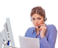 Woman working at office Royalty Free Stock Image