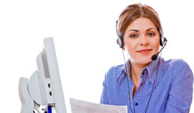 Woman working at office Royalty Free Stock Photos
