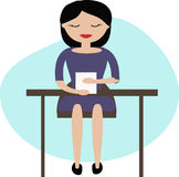 Woman working in office. Royalty Free Stock Image