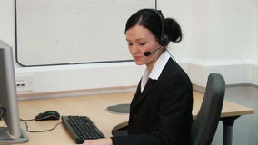 Woman working in Office  1 stock video