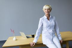 Woman working in the office Royalty Free Stock Photography