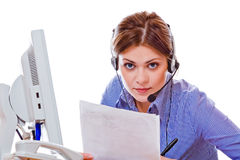Woman working at office Royalty Free Stock Photography