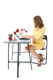 Woman working at the office Royalty Free Stock Photos