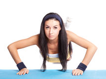 Woman Working Out Royalty Free Stock Photos