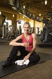 Woman working out. Royalty Free Stock Images