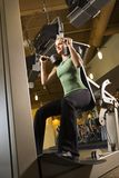 A woman working out. Royalty Free Stock Photo