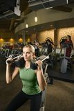 A woman working out. Royalty Free Stock Image