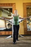 A woman working out. Royalty Free Stock Photography
