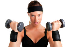 Woman Working Out Stock Images