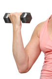 Woman working out with dumbbel Royalty Free Stock Photography