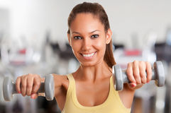 Woman Working Out Stock Photo